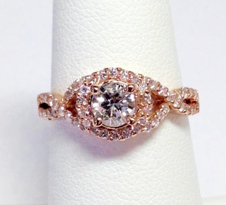 cff92517f36b Anillo de compromiso de diamantes de 100 CT redondo anillos