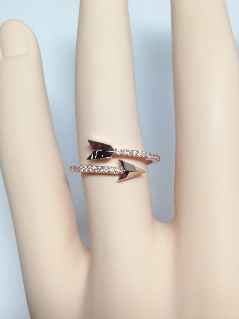 0.15CT Diamond Arrow Ring Right Hand Band Anniversary Bands Promise Rings Art Deco Ring Platinum 18K 14K White Gold Rose Gold Yellow Gold