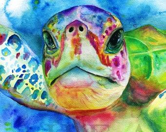 Sea Turtle Painting Etsy