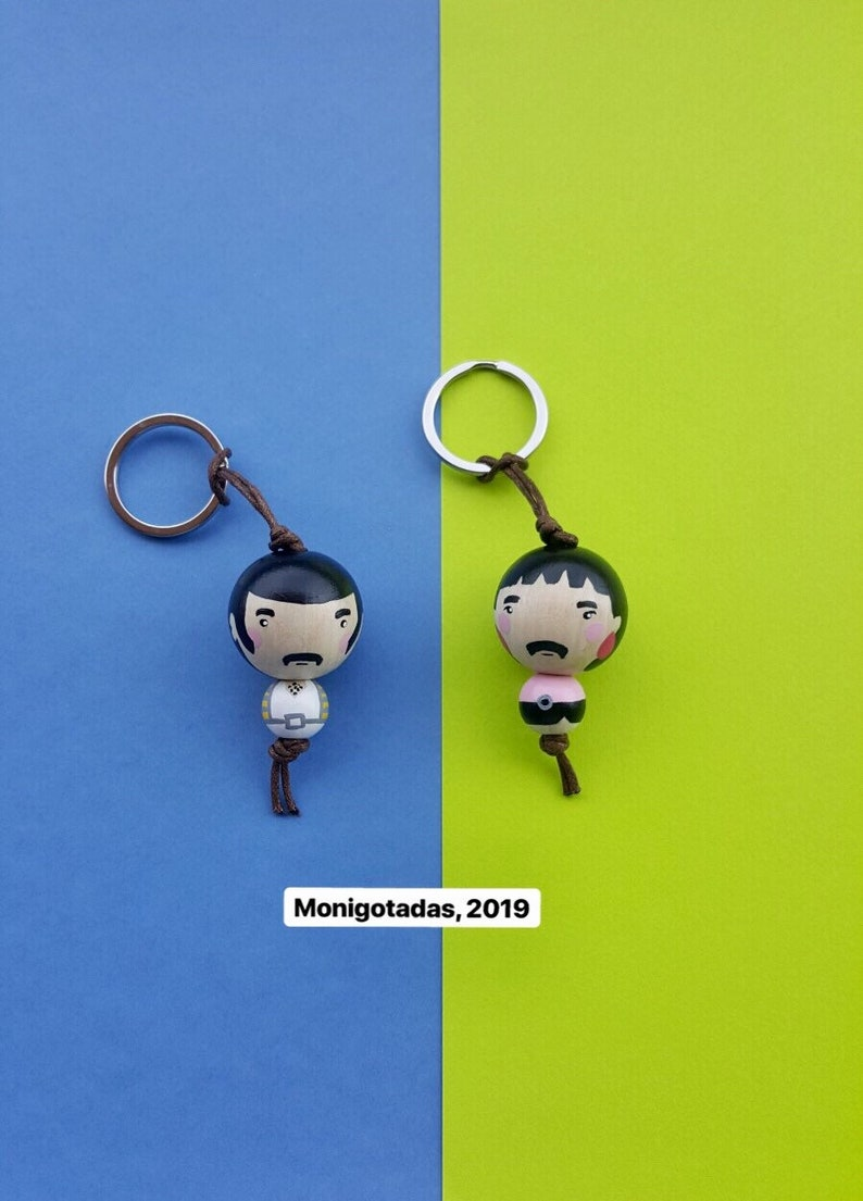 Freddie Mercury Kokeshi Keychain / Freddie 177  inches image 0