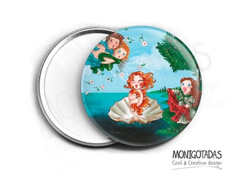 Boticcelli Mirrow (inspired) / The Birth of Venus by Boticelli Pocket mirrow