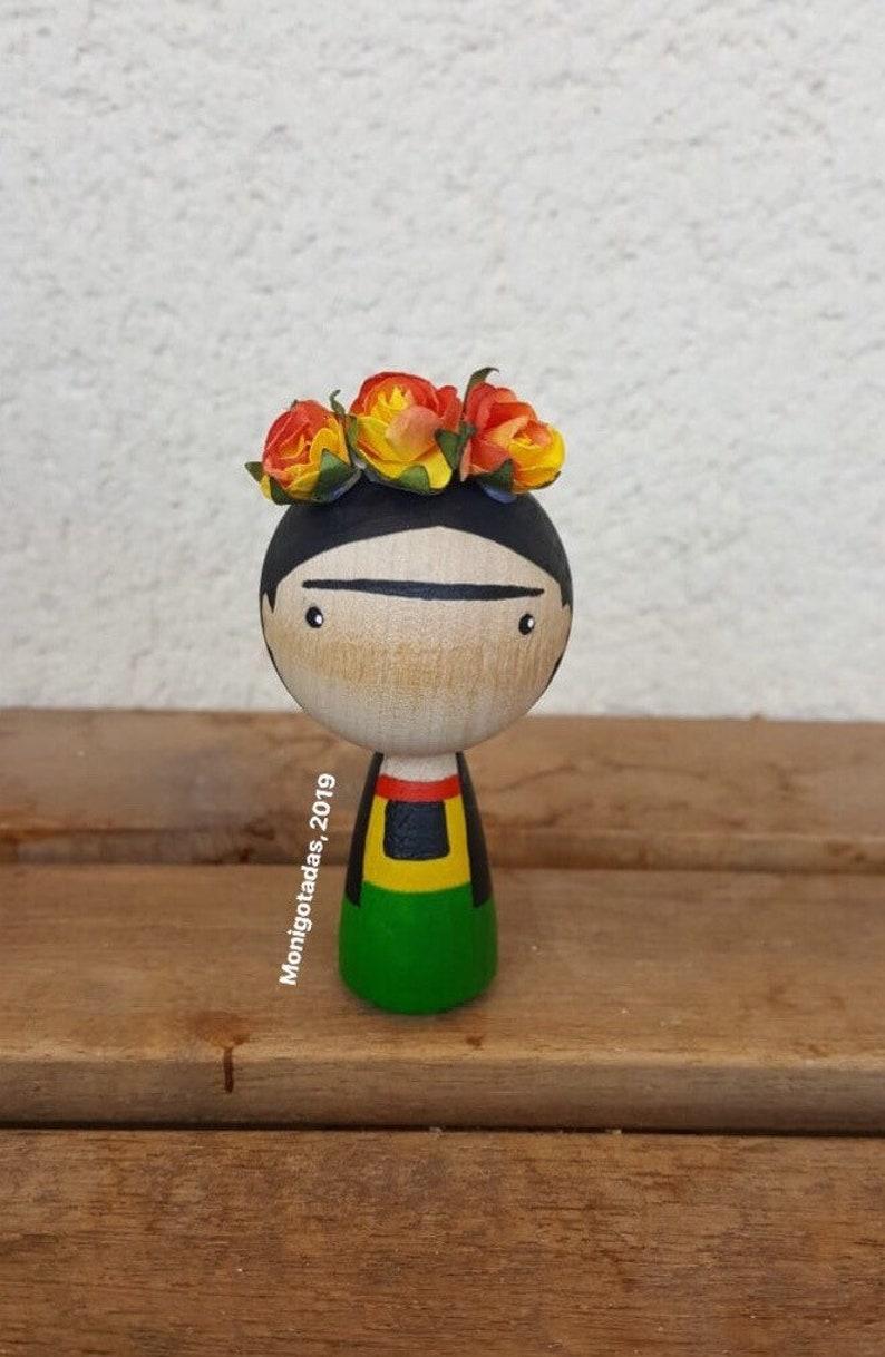 Frida Kahlo Kokeshi by Monigotadas / Frida Kahlo 295  inches image 0