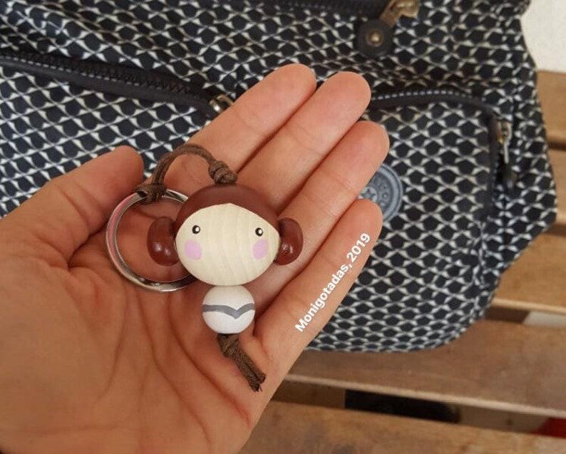 Leia Kokeshi ball Keychain / Leia 177  inches image 0