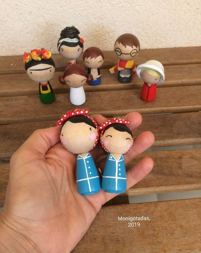 Rosie the Riveter Kokeshi by Monigotadas / Rosie 2 16 inches image 0