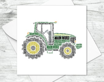 PERSONALISED FARM TRACTOR BIRTHDAY BIRTHDAY GIFT PRESENT LOVE WORD ART