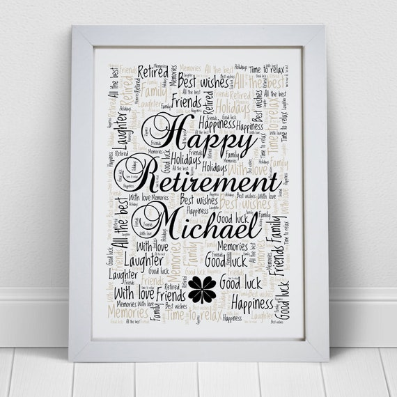 A4 Personalised Sorry You/'re Leaving Colleague New Job Retirement Word Art Print