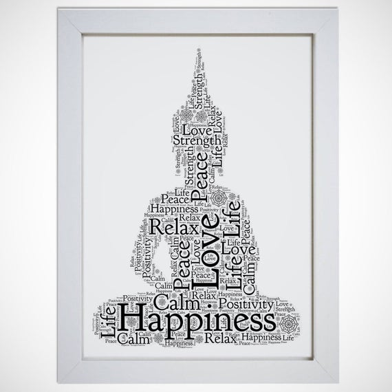 Personalised Thai Buddha Framed Word Art Gift Picture Print | Etsy