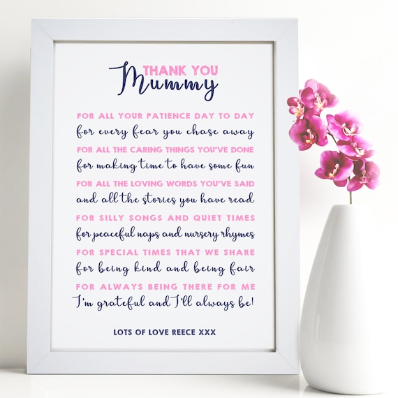 Personalized Brother Sister Appreciation Poem Ready to Frame