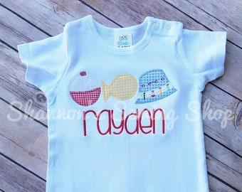 Boys Fishing Shirt - Fishing Birthday Shirt - Ofishally One Birthday - Boys Summer Outfit - Personalized Fishing Shirt