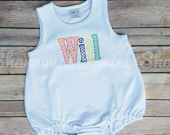 7ad070be5cf8 Baby Boy Monogrammed Bubble - Monogrammed Bubble - Monogrammed Romper -  Romper Bubble - Baby Boy Romper - Baby Boy Sunsuit - Summer Outfit