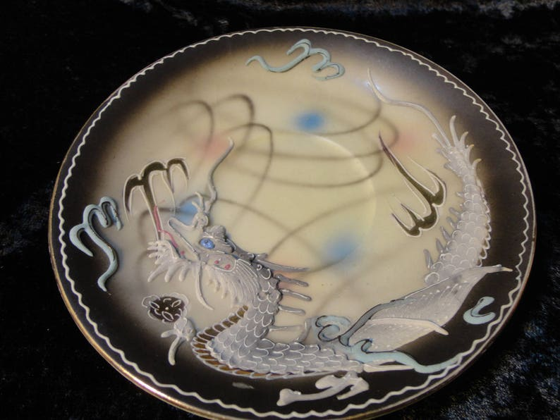 Moriage Dragonware - Vintage hand painted Japanese China tea cup made by  the Wales China Company - each item sold separately