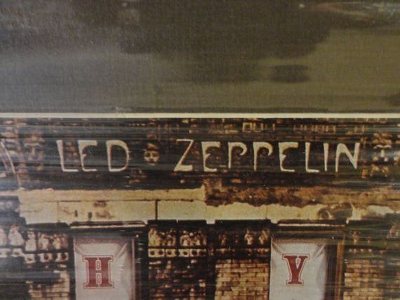 led zeppelin lithograph physical graffiti album cover etsy