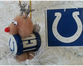 """NFL Xmas """"Reinbeer"""" Ornament - Indianapolis Colts"""
