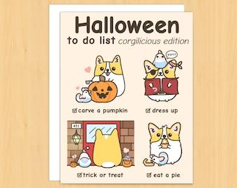 Funny halloween greeting card funny halloween card for etsy halloween cards funny halloween card halloween gifts halloween greeting cards corgi cards dog cards funny cards halloween cards m4hsunfo