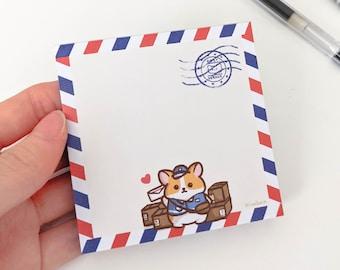 Kawaii Memo Pads Corgi Memo Pad Corgi Lover Love Corgi Memo Pads Memo Pads Cute Memo Pads Journaling Corgi Gifts Not Sticky notes