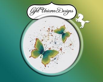 Butterflies 3 Cross Stitch Pattern Instant Download