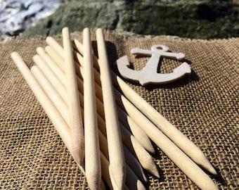 10 Hand-Carved Hardwood Hair Sticks (set of 5)
