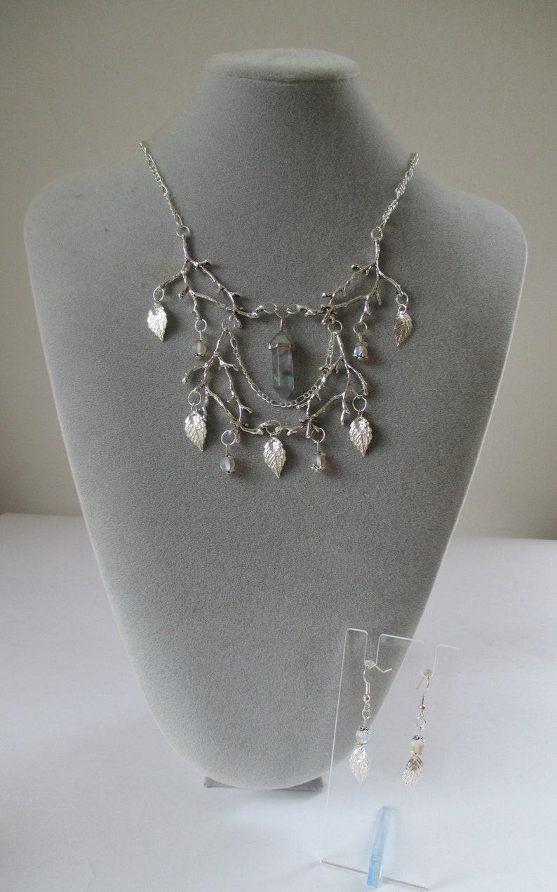 Elaborate Fairytale Forest Fluroite Necklace