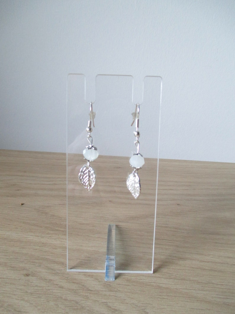 Elaborate Fairytale Forest Snow Quartz Necklace and Earrings Set