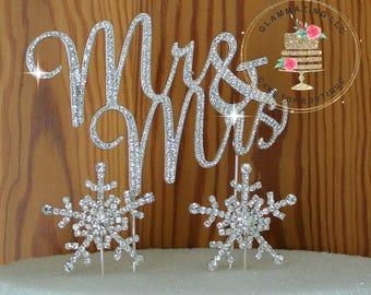 Winter wedding cake topper | Etsy