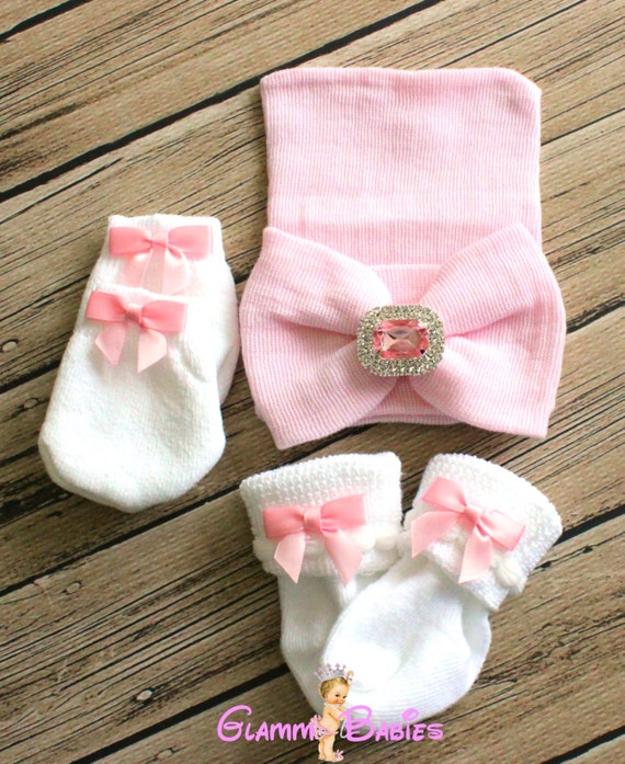 GIFT Newborn Baby Infant Girl Toddler Bow knot Hospital Beanie Hat SPARLE