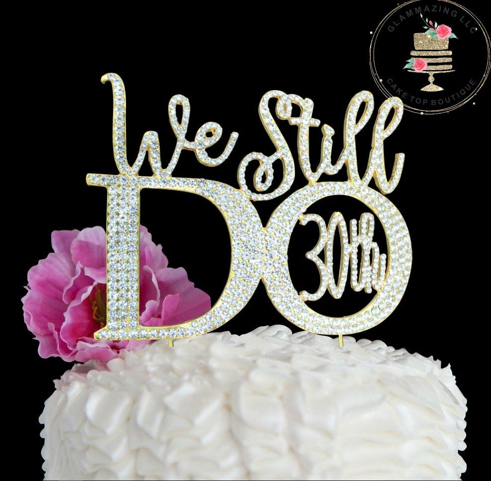 Custom 30th 0r 25th Wedding Anniversary Cake Topper 169 We