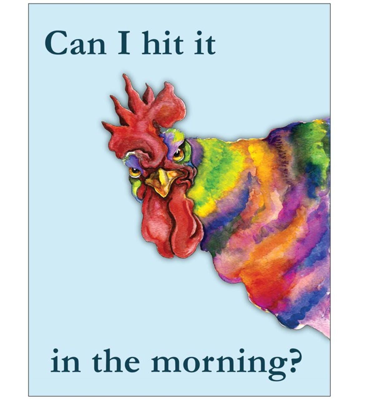 Funny Cock Pics can i hit it in the morning rooster greeting card, funny cock card,  boyfriend /girlfriend blank greeting card, sexy valentine card