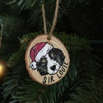 Custom Pet Wood Slice Ornament
