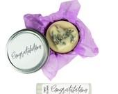 CONGRATULATIONS GIFT SET. Lemon lavender scented Lotion Bar. Natural Lip Balm. Engagement. Graduation Gift. Wedding. Congrats.