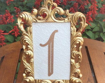Gold Wedding Frames Etsy