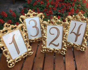 Table Number Frames Etsy