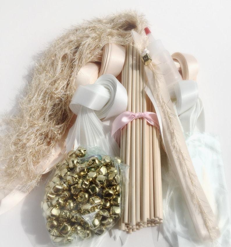 100 DIY Wedding wand kit your choice of ribbon color image 0