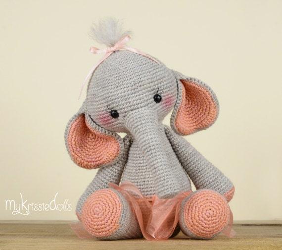 Amigurumi Elefante 100% Algodão Decoração Quarto Bebê Bichinho ... | 504x570