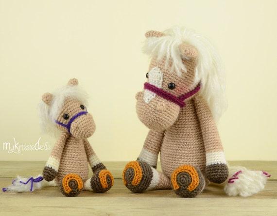 Crochet Pattern Mini Horse Piem Etsy