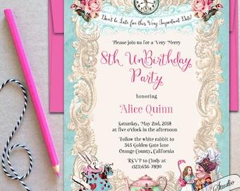 Unbirthday invite Etsy