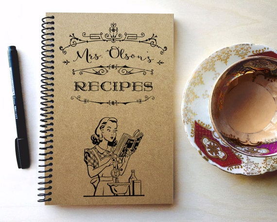 Personalized Blank Recipe Book Christmas Gifts For The Etsy
