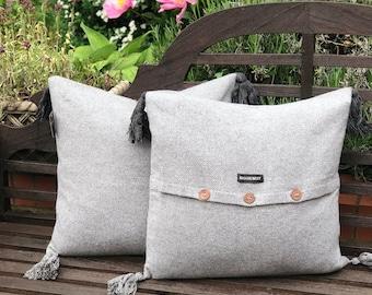 Ladbroke Grey Feather Cushion