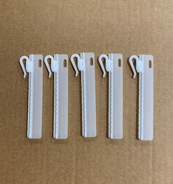 95mm Microflex Adjustable Curtains, Curtain Plastic Hooks