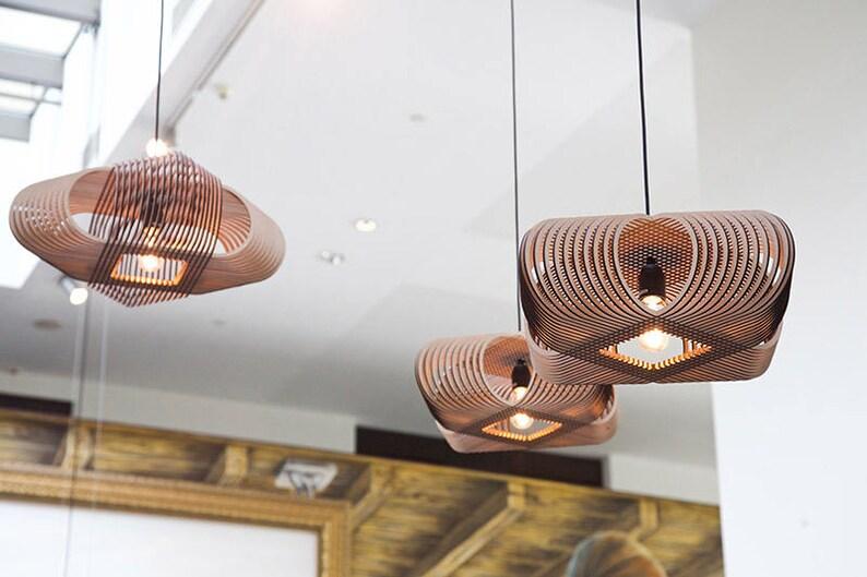 No ovals hanglamp lasergesneden hout dutch design etsy