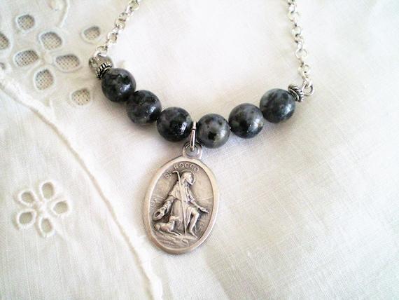 "7/"" réglable Sterling Silver Miraculous Medal Rosary Cross Bracelet 6/"""