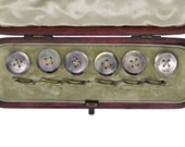 Black Mother of Pearl Button Set