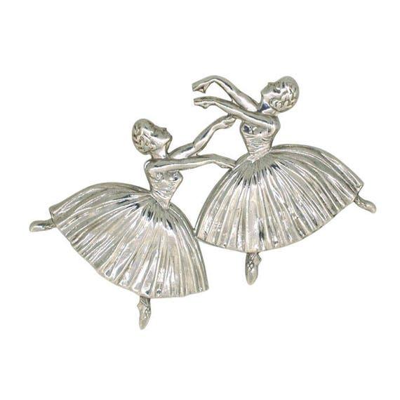 Silver Ballerina Brooch