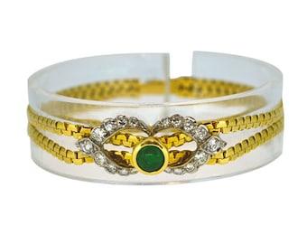 Vintage Diamond & Emerald Bracelet