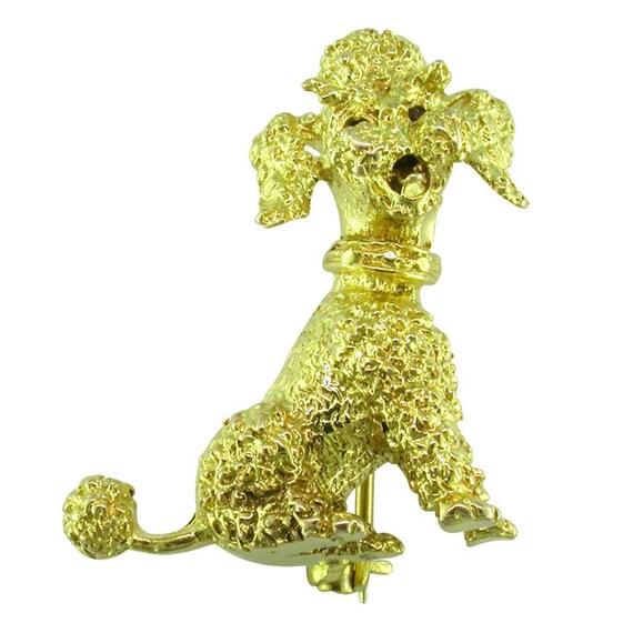 Poodle Dog Brooch