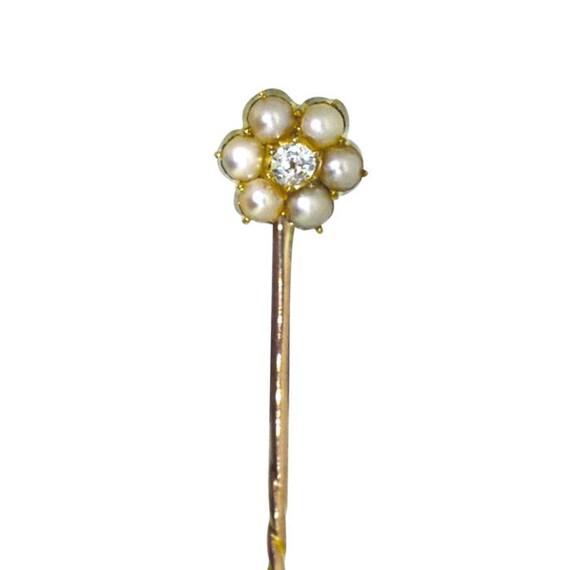 Pearl & Diamond Tie Pin