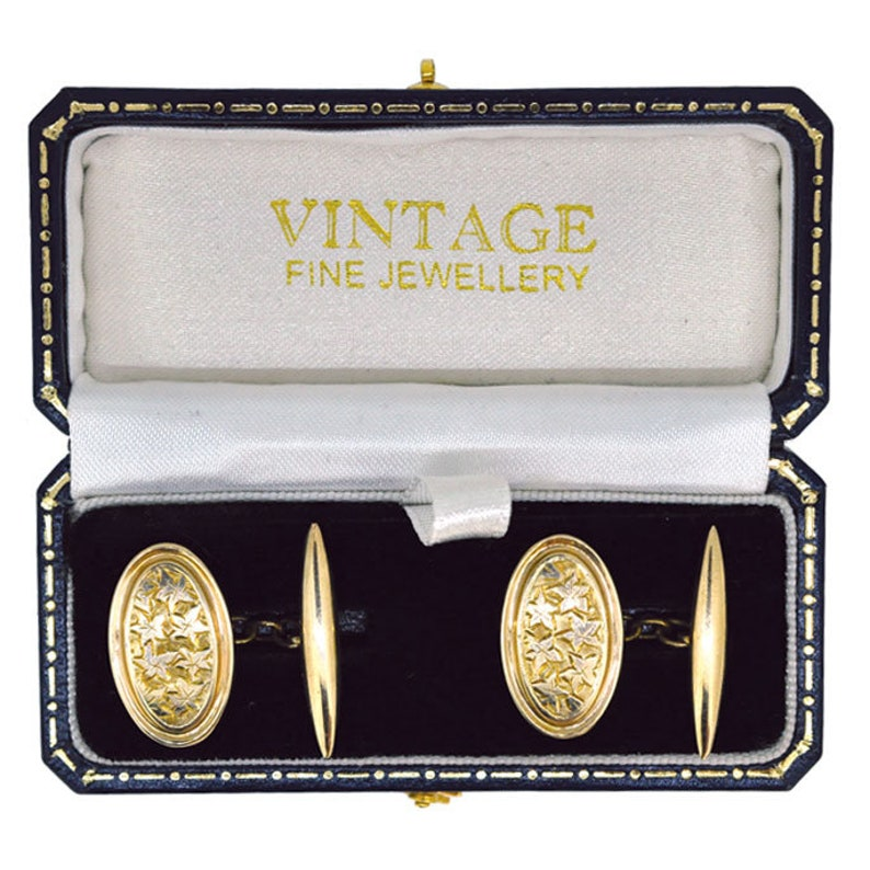 Ivy Engraved Vintage Cuff Links