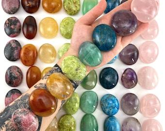 Chakra Crystal Set | set of 8 stones, palm stone set, chakra crystals, pocket stone, chakra palm stones