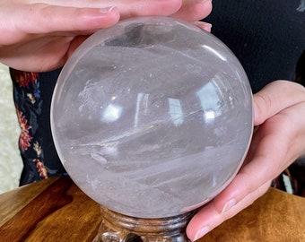 XL Quartz Sphere, Crystal ball, crystal sphere, clear quartz ball, quartz crystal