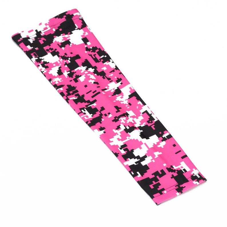 d75029b884 Breast cancer awareness pink camo compression arm sleeve for | Etsy