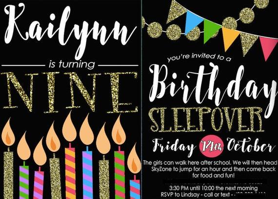 Invitación Del Cumpleaños Del Brillo Juvenil